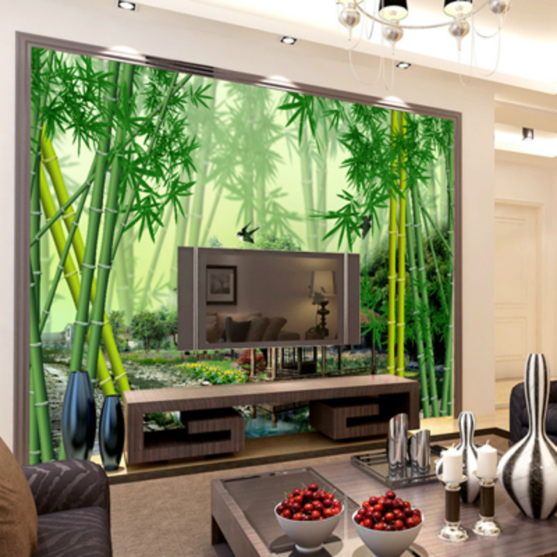 Compare prices on spring nature wallpaper online shopping for Bamboo forest mural
