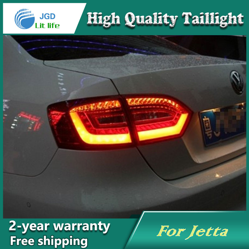 Car Styling Tail Lamp for VW Jetta Tail Lights LED Tail Light Rear Lamp LED DRL+Brake+Park+Signal Stop Lamp car styling tail lamp for vw jetta 2011 2014 tail lights led tail light rear lamp led drl brake park signal stop lamp