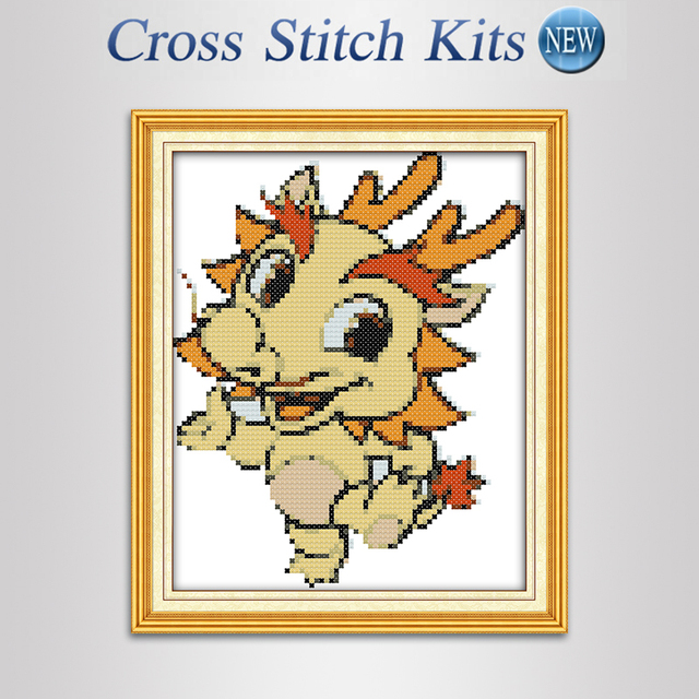 US $10 22 |Chinese Zodiac dragon Needlework Cartoon Counted Cross Stitch  Sets For Thread embroidery kits Precise Printed Patterns landscape-in  Beaded