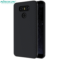 Nillkin Synthetic Fiber Luxury Cover For Lg G6 H870 Hard Case Built In Iron Shell Kickstand
