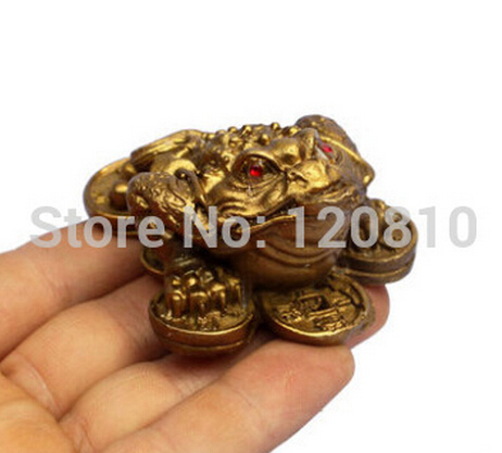B0601 321copper Ornaments Toad Lucky Feng Shui Coins Trumpet Street Furnishings