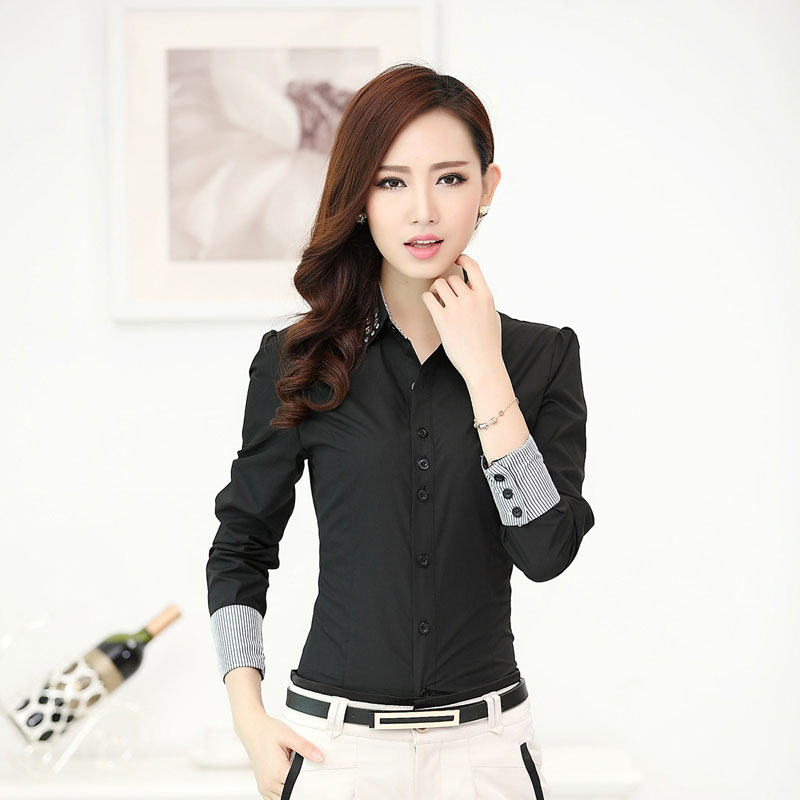 Popular Black Office Uniform Shirts-Buy Cheap Black Office Uniform ...
