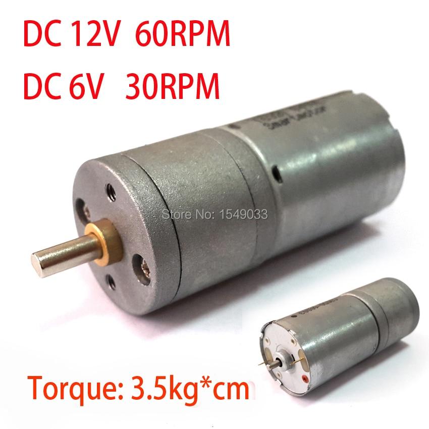New 12v Dc Motor 60rpm Powerful High Torque Gear Box Motor