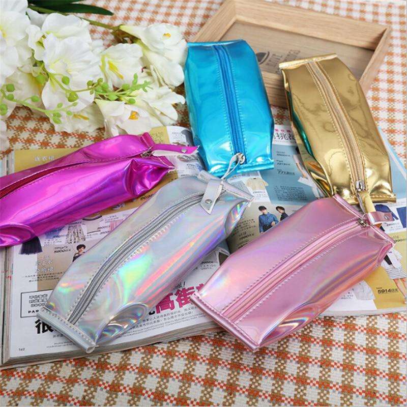 1 Pc Mode Frauen Dame Laser Silber Mini Geldbörse Brieftasche Zip Beutel Kosmetik Lagerung Taschen Halter Weibliche Geldbörse
