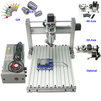 Mini CNC Woodworking Lathe Machine 400W 3axis 4 axis 5 axis CNC 3040 Engraving Milling Machine