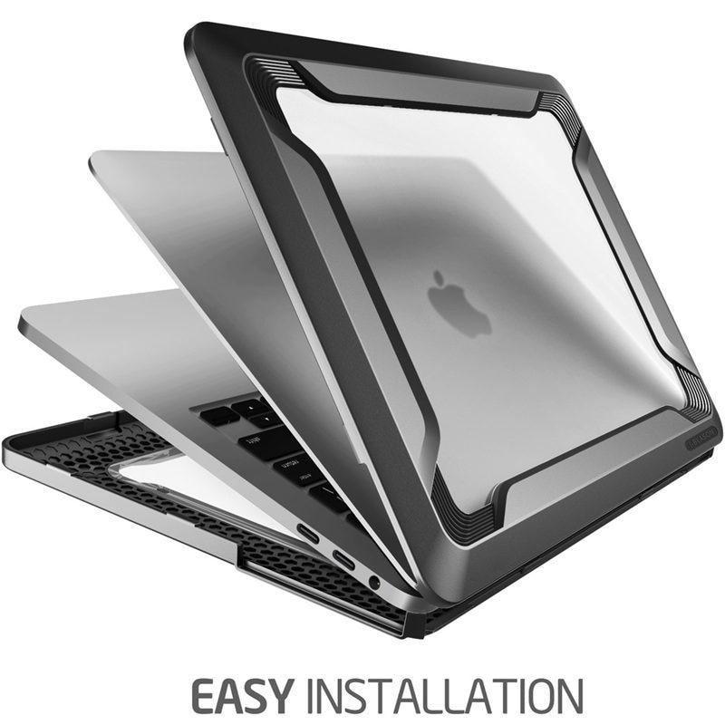 Pour MacBook Pro 15 Case A1990/A1707 (2019 2018 2017 libération 2016) avec barre tactile Touch ID protection de pare-chocs en polyuréthane caoutchouté robuste - 4