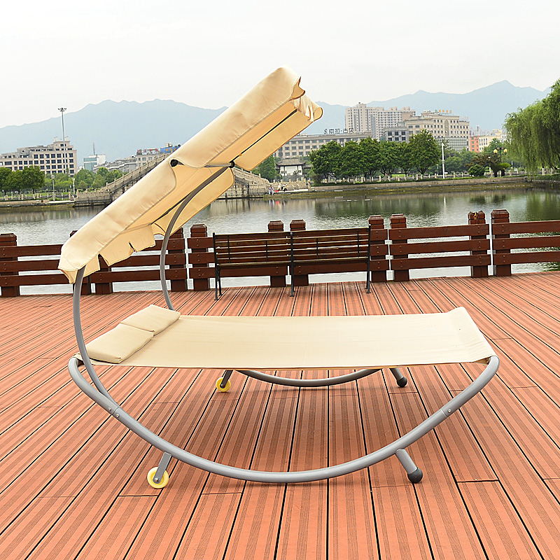 Order: 1 Piece. Modern Sun Loungers Patio Outdoor Furniture Double Hammock  Daybed Beach Swimming Pool Chaise Lounger With Sun