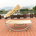 Modernas Espreguiçadeiras Mobília do Pátio Ao Ar Livre Duplo Rede Daybed Praia Piscina Chaise Lounger com Sun Sombra, rodas