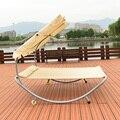 Tumbonas modernas Muebles de Patio Al Aire Libre Hamaca Doble Sofá-Cama de Playa Piscina Chaise Lounge con Parasol, ruedas