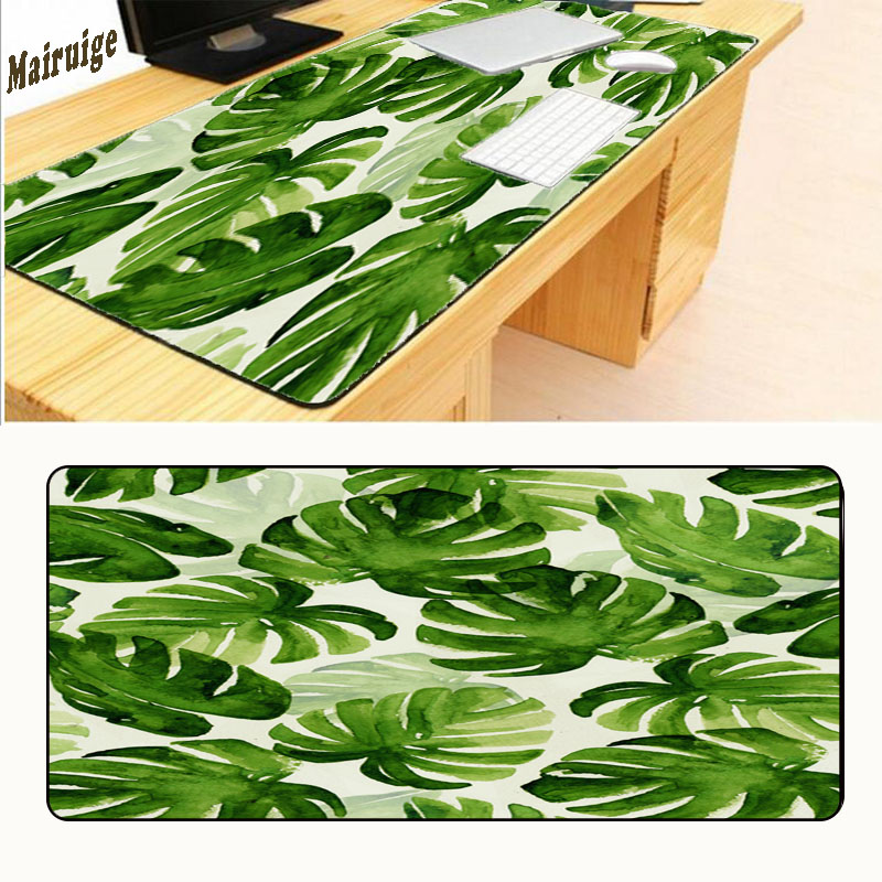Mairuige Green Leaves Mouse Pad Game Wallpaper Overlock Mouse Notbook Computer Mousepad Gamer To 80x30cm Keyboard Mouse Mats