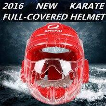 EVA PU Coated Full Face Head Guard Karate Helmet Taekwondo Headgear MMA Kick Head Protector Professional Training Helmets