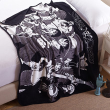 Anime One Piece Blanket/Skull Design Fleece Travel Blanket/Luffy Air conditioner Throw on Sofa/Comfortable Plane Rug Manta
