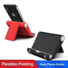 Soporte Universal plegable para teléfono de escritorio para Huawei P40 Mate 30 pro Samsung S20 plus iPhone teléfono móvil Tablet soporte de escritorio