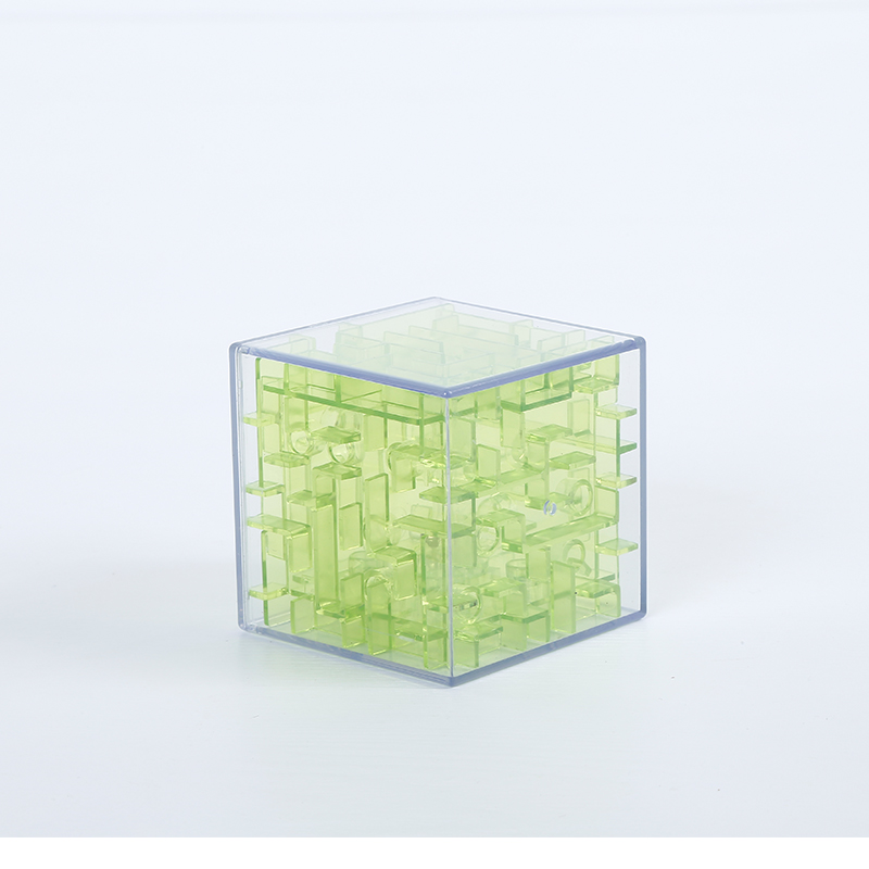 2 Colors 3D Mini High Speed Cubic Maze Cube Puzzle Game Cube Maze Childrens Rolling Ball Toys Learning Toys For Kidss Gifts