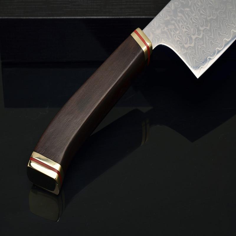 Şam naxışlı Bıçaq Core VG10 Yapon Nakiri Aşbaz Bıçaq - Mətbəx, yemək otağı və barı - Fotoqrafiya 5