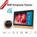 2016 Hot Vender iHome4 Wi-fi Sem Fio Peephole Visualizador de Vídeo Porteiro Sistema de Controle de Acesso de 7 polegada LCD Screen Display + 2MP câmera