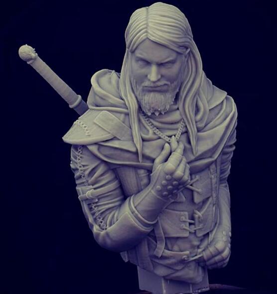 1/12 Resin Bust Man Warrior Model Kits