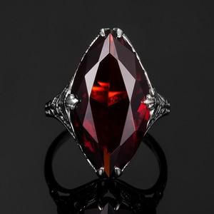 Image 5 - Szjinaoガーネットリング女性のためのリアル925スターリングシルバーマーキスリング宝石ファッションで有名なブランドのジュエリー女性のためのホット