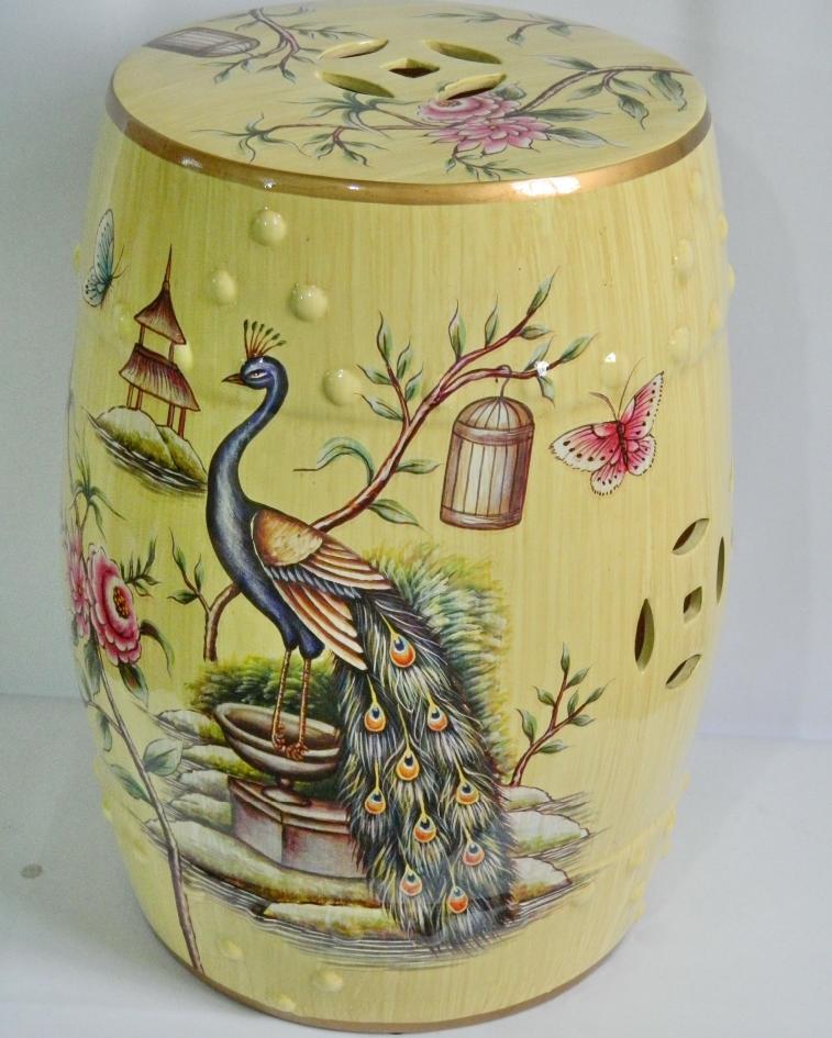 Jingdezhen Ceramic Antique Drum Porcelain Garden Stool Glazed Hand Painted  Round Ceramic Antique Chinese Ceramic Drum Stool