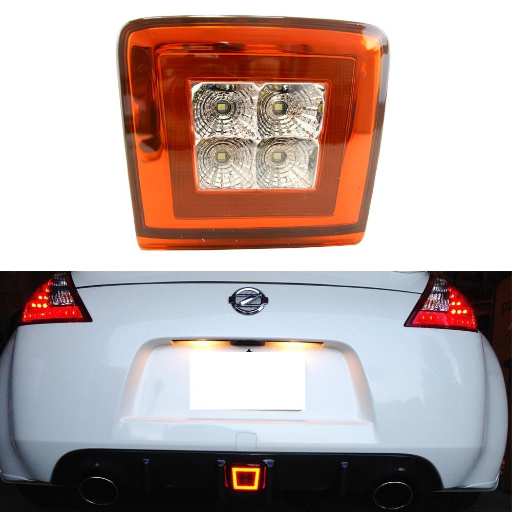 1 шт задний противотуманный фонарь светодиодные на 2009 год-до Ниссан 370z вышли (Интегрированный задний противотуманный фонарь, стоп-сигнал, резервного копирования свет)