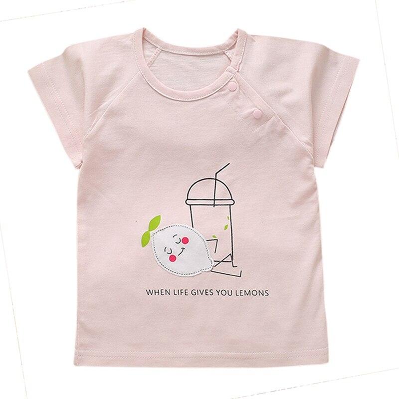 Summer Baby Girls Cotton Baby Girl Short Sleeve Kids Cloths Blouse Summer Style T-shirt