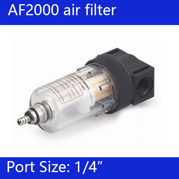Free Shipping 1/4'' AF2000 Air Source Treatment Filter Pneumatic Component 1 2 bf4000 air filter water trap air source treatment filter pneumatic component