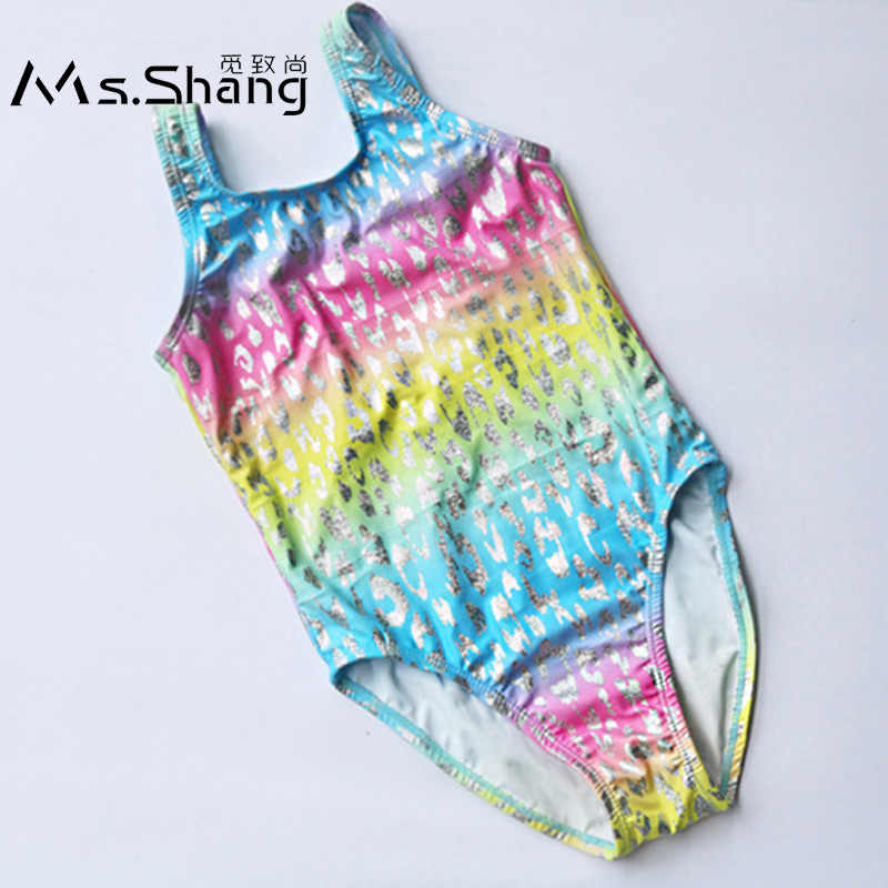 c5846f860b03f Detail Feedback Questions about Ms.Shang 4 14 Years Girl Swimsuit One Piece  Colorful Children Swimwear Kids Swimming Suit Girls Bathing Suit Teenager  Swim ...