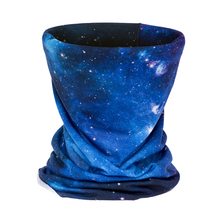 3D Galaxy Blue Headband Cykling Multi Funktionell sömlös Tubular Magic Face Mask Tube Ring Scarf Bandana