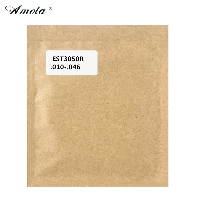 1 Set Amola Electric Guitar Strings EST3050R 010-046 Nickelplated Steel Standard Tension Bullets Guitar Accessories
