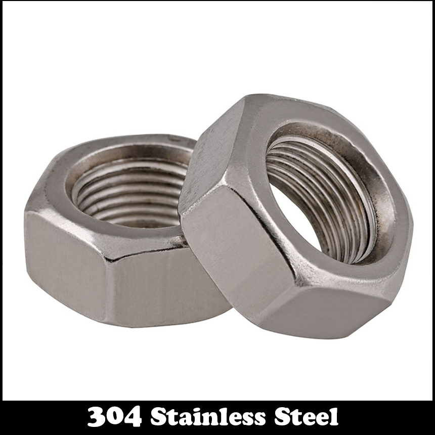 M8 M8*1 M8x1 M10 M10*1 M10x1 M12 M12*1 M12x1 DIN934 304 Stainless Steel 304ss Thin Fine Pitch Thread Hexagon Hex Nut