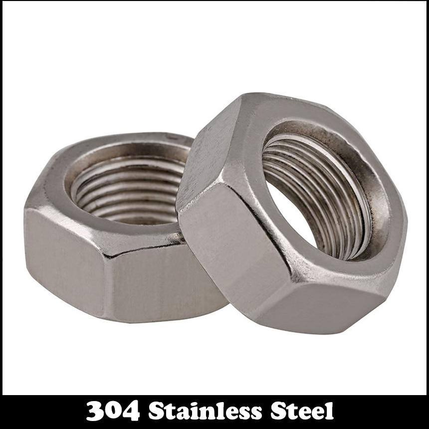 Nuts 20pcs//Lot Metric Thread DIN934 M10 304 Stainless Steel Hex Nut Hexagonal Nut Screw Nut A2-70