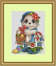 Needlework  14CT 16CT Cross Stitch, DIY Count Embroidery Set,Easter rabbit