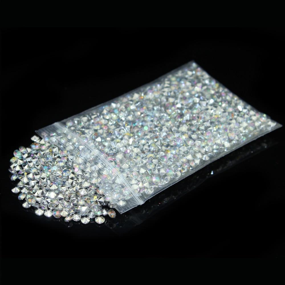 2000pcs Bag 4 5mm 1 3 Carat Size Ab Silver Diamond