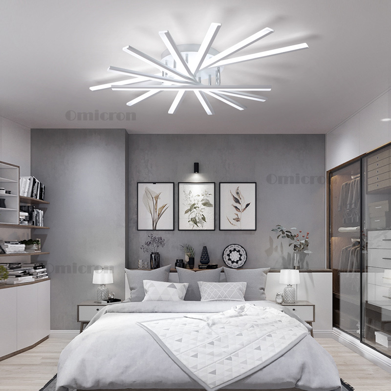 Surface mount ceiling lights Modern led ceiling lamp For Indoor Lighting 180-240v Creative Acrylic plafonnier led lampara techo modern led acrylic ceiling lights for parlor lampada led hotel hall led strip acrylic led strip indoor lighting luz de techo