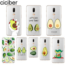 ciciber Cute Avocado Phone Case For Oneplus 7 Pro 6 5 T Soft TPU Back Cover Clear Coque for 1+7 Pro 1+ 6 1+5 T Fundas Shell Capa