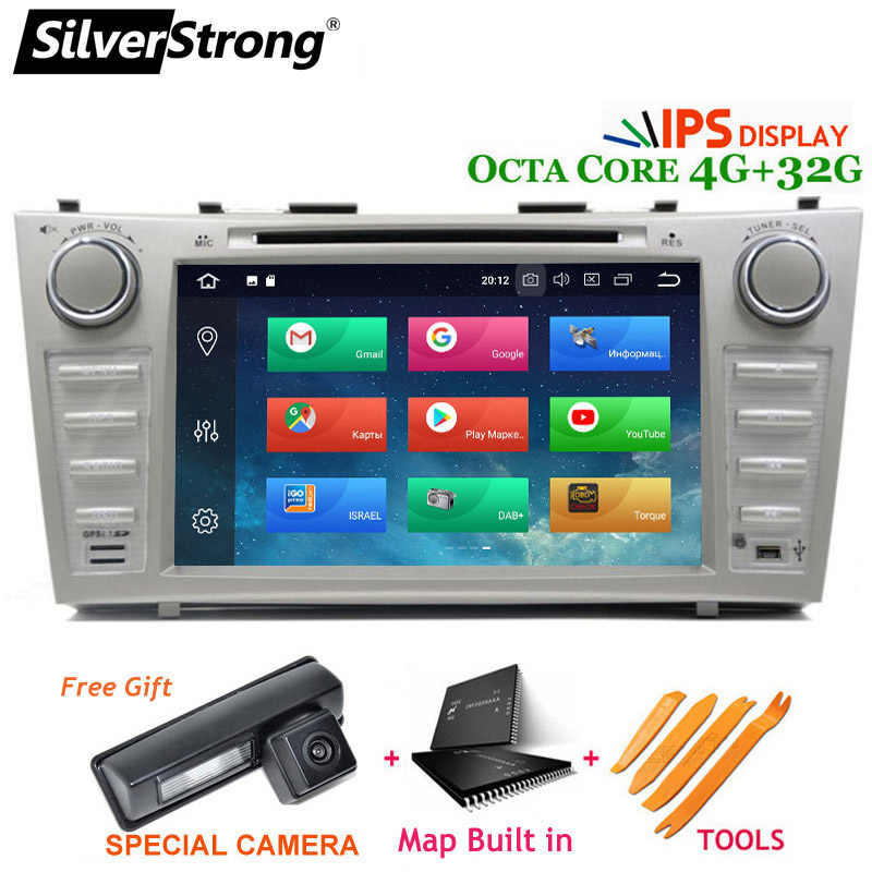 SilverStrong Android9.0 4G coche DVD 2DIN para TOYOTA CAMRY V40 AURION OctaCore 32GB DSP opción 2007, 2008, 2009, 2010, 2011 V40