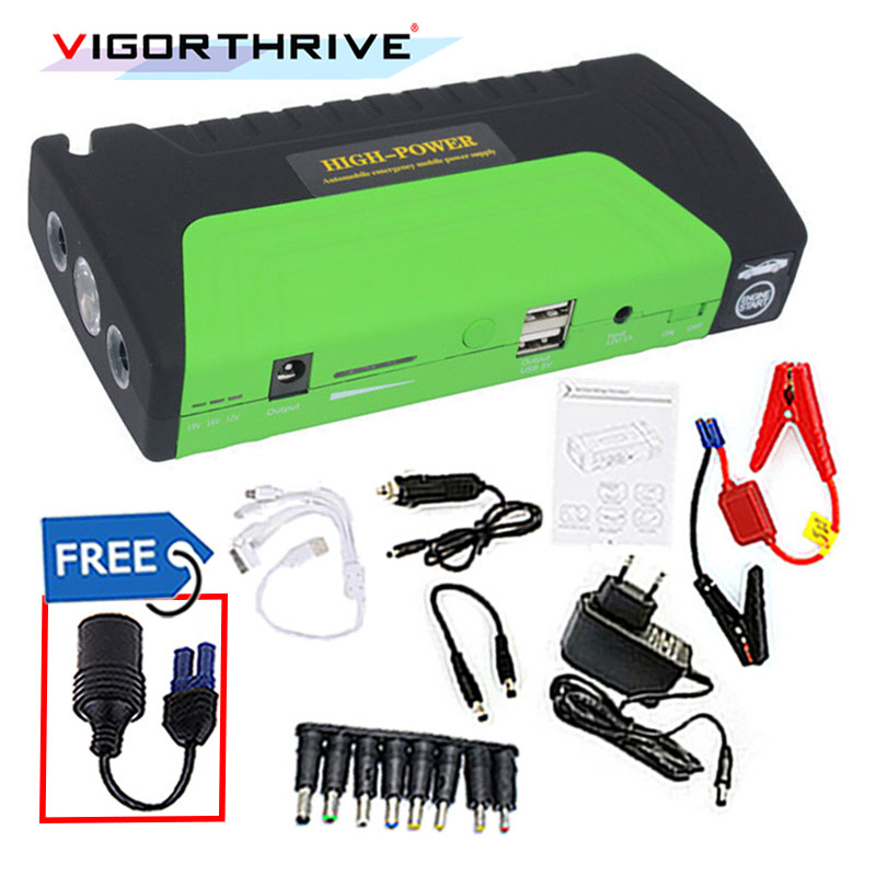 Car power bank Car Jump Starter 12V Auto Booster Emergency Start Rechargeable batteries and charger for Cell Phone Notebook