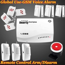 Fuers 433MHz 850/900/1800/1900 Wireless Home Burglar GSM Alarm Auto Dialer Voice <font><b>Security</b></font> System remote controlSMS DIY