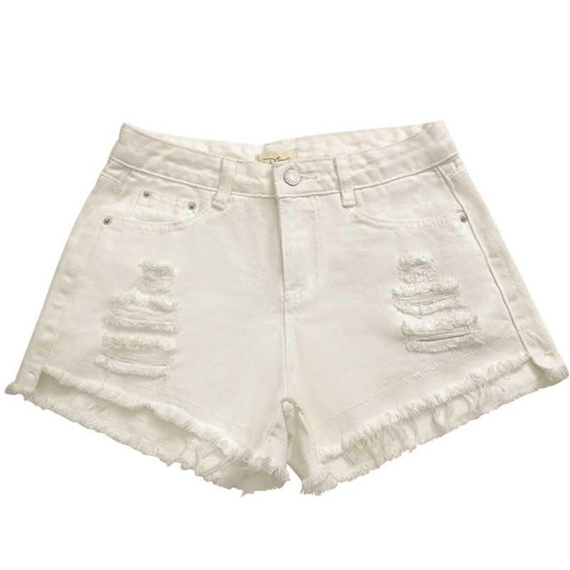Новые модные джинсовые шорты; деним Для женщин Свободные рваные Летние повседневные джинсы брюки женский сексуальный клуб одежда с высокой талией, джинсовые шорты, W3