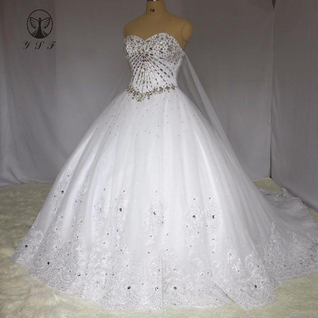 Luxury Vestidos De Novias Off the Shoulder Sweetheart Appliqued Lace ...