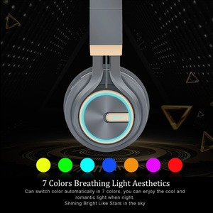 Image 3 - B6 Wireless Headphones Bluetooth 4.1Headphone 12H Playing time Stereo Glowing Headset Earphone With Mic For Tv Cellphone xiaomi
