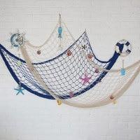 Mittelmeer Marine Stil Hängen Fischernetz Anhänger Netz Home Decor DIY Handwerk Wand Hängende Dekoration Ornament-in Windspiele & hängende Dekoration aus Heim und Garten bei