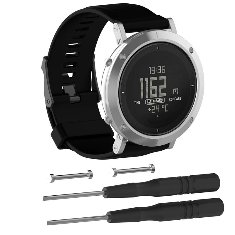 Bemorcabo for Suunto Essential Watch Band,Silicone Classic Replacement Watch Strap Band Bracelet for Suunto Core Steel Watch компьютер для дайвинга suunto ss020305000 eon steel