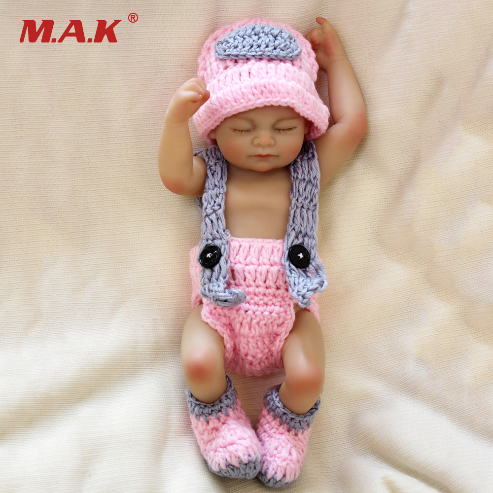 25cm Reborn Doll Mini Full Silicone Bebe Dolls Sleeping Babies Doll For Kids Toys Gifts