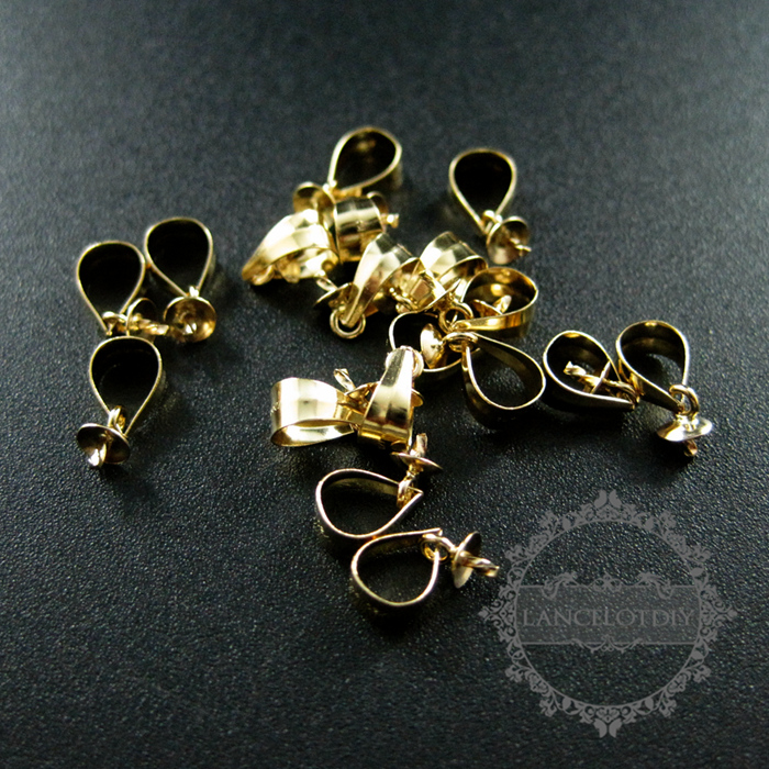 3x6mm gold <font><b>filled</b></font> <font><b>high</b></font> quality color not tarnished beads bail with 3mm <font><b>cup</b></font> and peg drop DIY pendant charm supplies 1534010