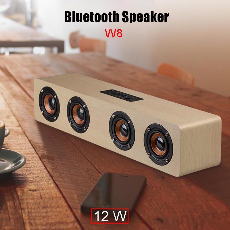 Evewher New 12W Bluetooth Speaker Subwoofer Speaker Built-in 3000mA Stereo Speaker Wooden box / Shockproof / Card Handsfree uwinka mc u6c multi in 1 water resistance shockproof memory card storage box red