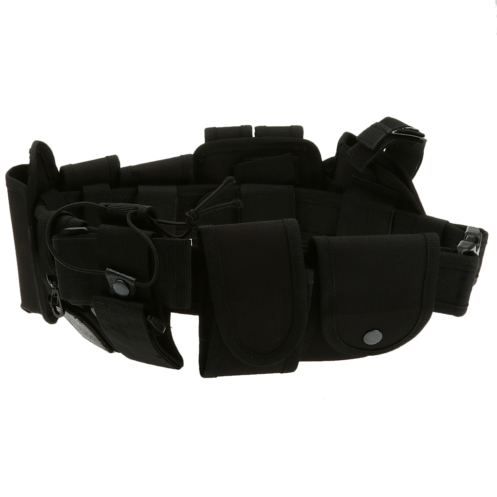 Image 4 - Utility Belt Waist Bag Pouch Mens Security Police Guard Patrol Kit with Radio Holster Tools for outdoorMens Belts   -