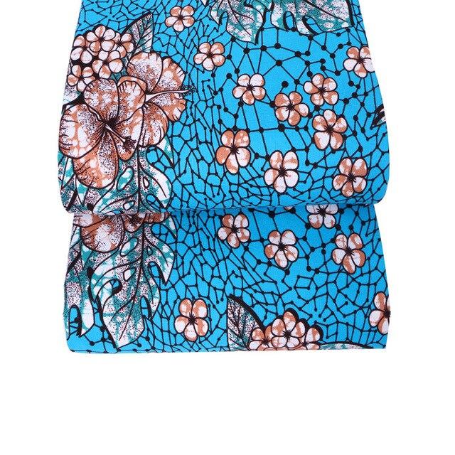 mylb New Polyester Wax Prints Fabric 2018 Ankara Super Hollandais Wax High Quality 6 yards African Fabric for Party Dress 2