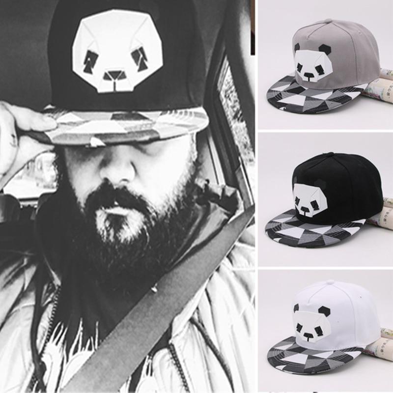 2019 Spring New Cartoon Panda Adjustable Baseball Caps Snapback Hats For Youth Men Women Fashion Animal Cap Hip Hop Sun Bone Hat