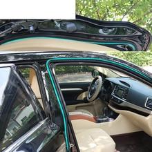 lsrtw2017 PVC car door window sealing strips for volkswagen polo jetta mk6 tiguan touran sharan golf 4 5 6 7 passat b8 b7 b5 b6